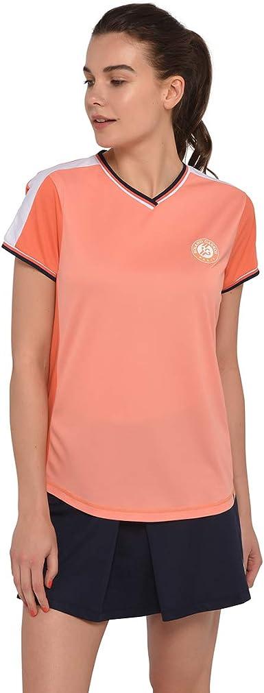 T-Shirt Sport Fille Color-Block Roland-Garros Blanc