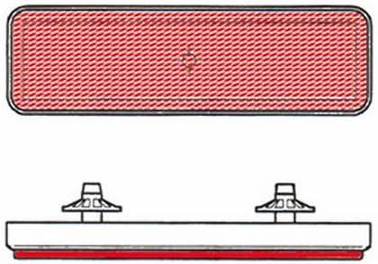 V PARTS - Catadioptrico reflector rectangular trasero rojo - 8164 ...
