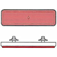 V PARTS - Catadioptrico reflector rectangular trasero rojo