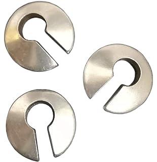 Pesos de oreja de pareja plateados plata para lóbulos estirados - Tres pendientes dilataciones orejas -