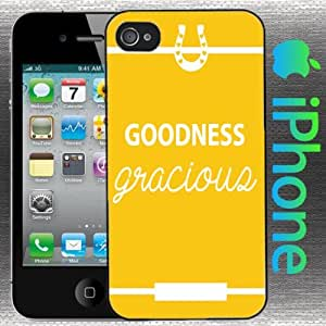 Southern Girl Sayings : Goodness Gracious Iphone 4 / 4s Case Yellow Horse Shoe