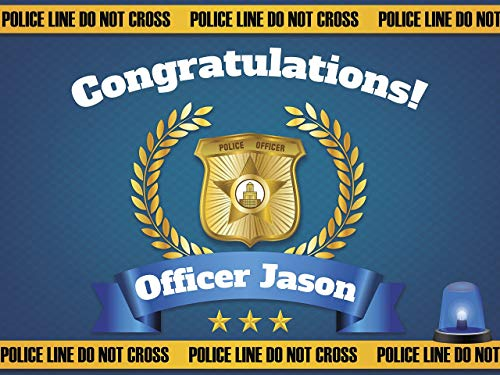 Graduation Banner, Congratulations Officer, Police Academy Banner, Police Party Ideas, Personalized Congratulation Party Banner Handmade Party Supply Poster Print Size 36x24, 48x24, 48x36, 24x18 -