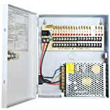GW Security GWP1218-15A 18Ch 12 Volt 15 Amp (12V 18 Port 15A) Power Distribution Box for Security Camera CCTV DVR System - New Technology