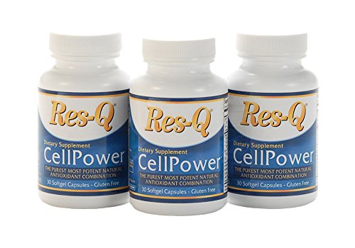 Res-Q CellPower CoQ10 with Additional Antioxidants, 30 capsules, 3-Pack by ResQ