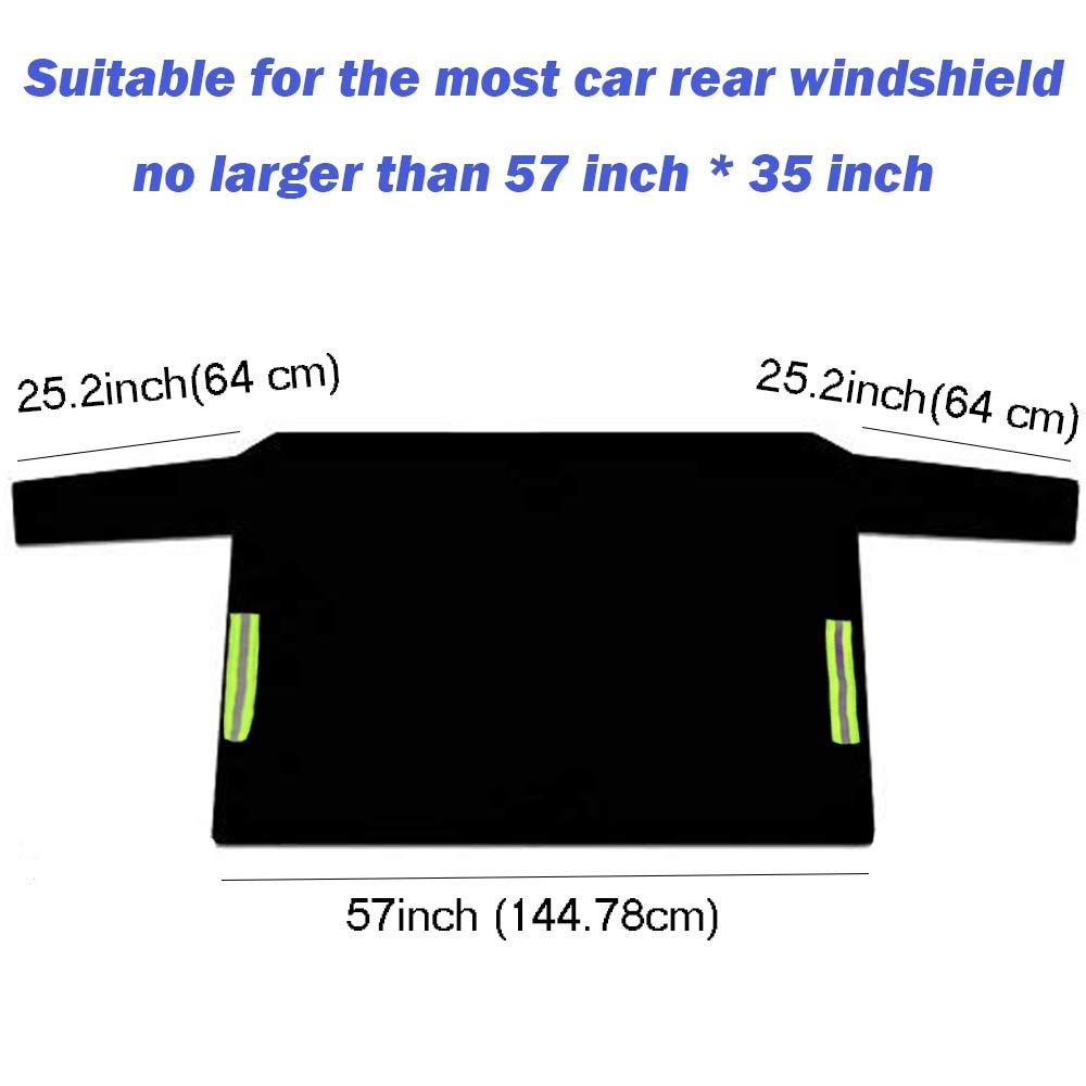 Protection Contre la Neige Le Gel la Glace Les Rayons UV Big Ant Ultra /épaisse R/ésistante Housse de Protection pour Pare-Brise arri/ère de Voiture Compatible avec la Plupart des v/éhicules