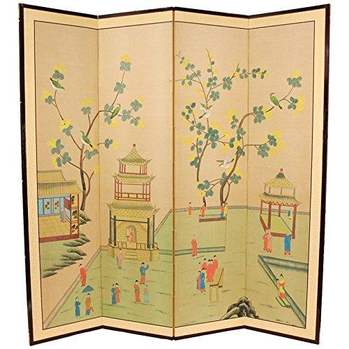 Oriental Möbel asiatischen Dekor und Geschenke, 72von 183cm geben Sie Pagode Oriental Bürste Art Boden Raumteiler