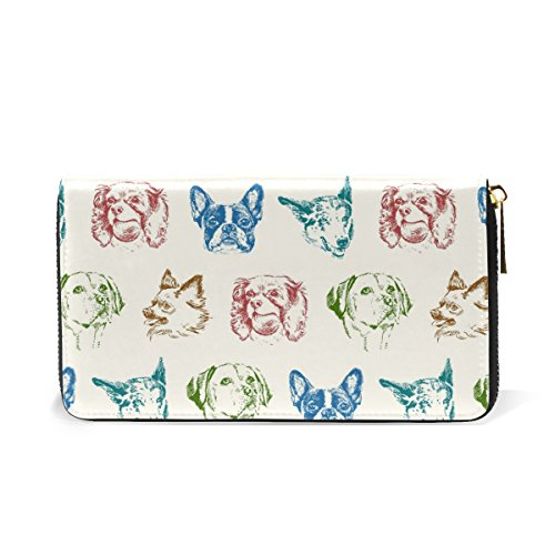 Wallet Clutch Jack Around Russell Womens 10 And Purses Dog Zip Pattern Handbags Puppy Terrier Organizer TIZORAX OUYgqwY