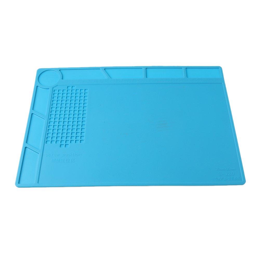 MagiDeal 13, 78 * 9, 84 Zoll Hitzebeständige Silikon Reparatur Matte Plattform bis zum 500 ° C Für Mobilen PC