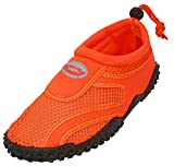 The Wave Aqua Socks Womens Water Shoe, Neon Orange, 5