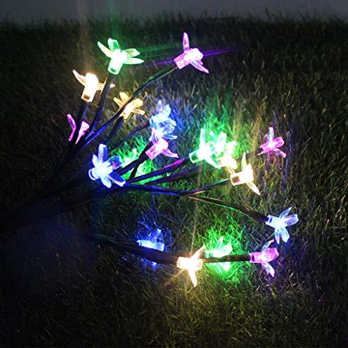 HADIY 2 PCS Solar Powered String Lights,Cherry Flower LED Light Outdoor Garden Yard Lawn Landscape Lamp for Wedding Party