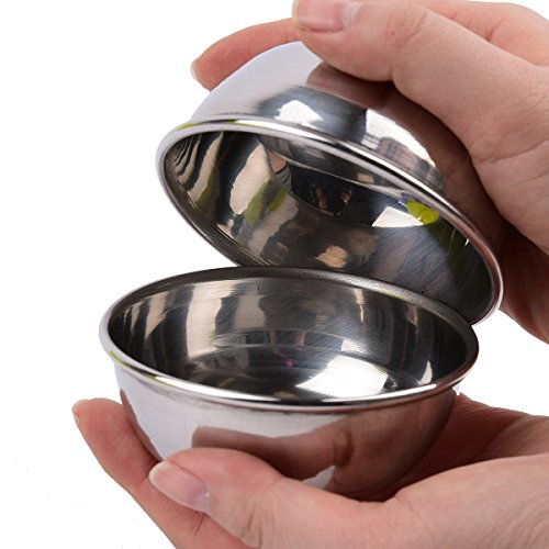 Big Bath Boom Molds Large Bath Bomb Ball Molds Bath Fizzies Stainless Steel Molds 2pieces Per 1set Circle Shape 2.95inch - Circle Dye
