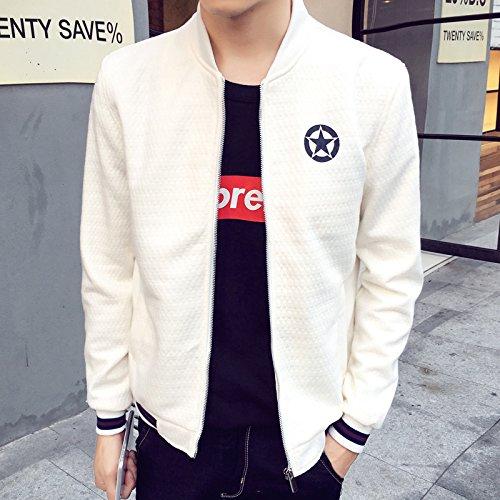 chaqueta blanco hombres distan Hombres m casual hombres tejida de Sau estilo mucho casual para XXXL de aqxdR6x4