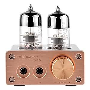 HOOMYA 6J9 Amplificador Integrado del Amplificador del Tubo de vacío Mini Audio estéreo de Alta fidelidad del Auricular