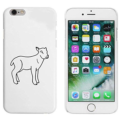 Blanc 'Mignon Agneau' étui / housse pour iPhone 6 & 6s (MC00088411)