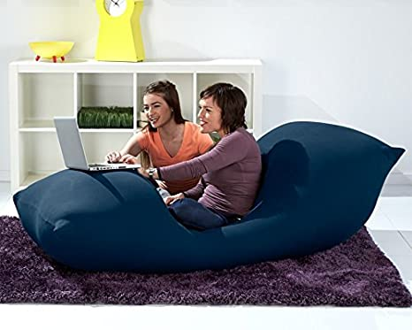 Tremendous Yogibo Bean Bag 6 Blue Machost Co Dining Chair Design Ideas Machostcouk