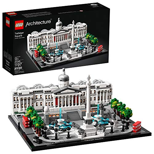 LEGO Architecture 21045 Trafalgar Square Building Kit, New 2019 (1197 Pieces) (Lego Architecture Building Set)