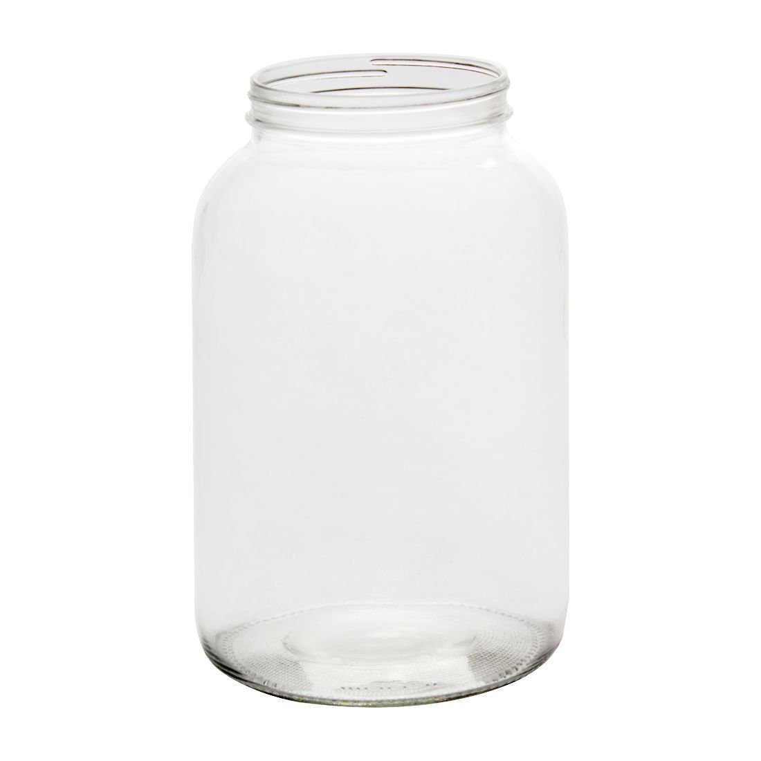 North Mountain Supply 1 Gallon Glass Wide-Mouth 110 CT Fermentation/Canning Jar with Gold Metal Lids - Case of 4