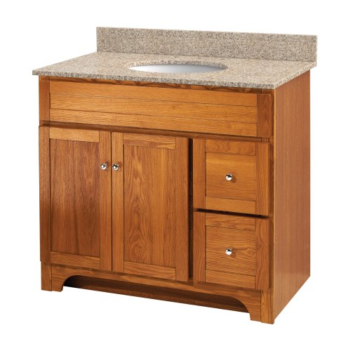 Foremost WROA3621D Worthington 36-Inch Oak Bathroom Vanity - Foremost Oak Vanity