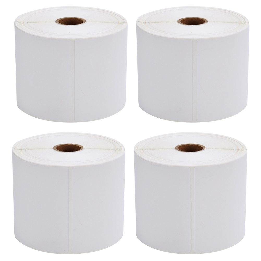MFLABEL 4 Rolls of 450 Direct Thermal Shipping Labels 4x6 for Zebra 2844 Zp-450 Zp-500 Zp-505