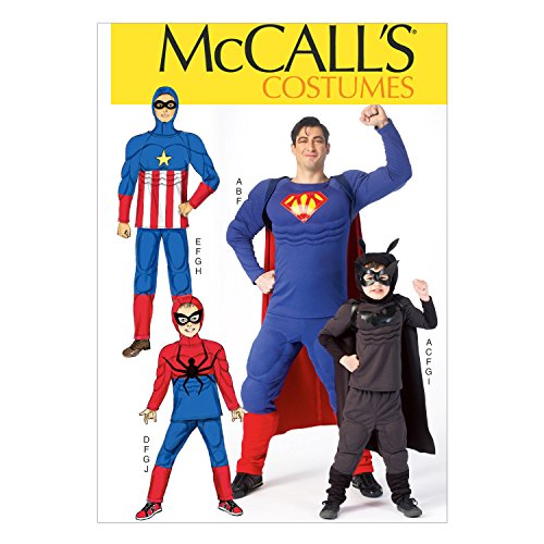McCall Pattern Company M7002 Men's'/Children's/Boys' Costumes, Size Kid (3-4 5-6 7-8) -