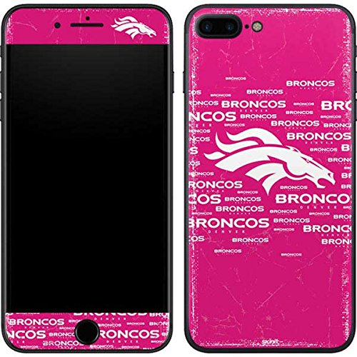 (Skinit Denver Broncos Pink Blast iPhone 7 Plus Skin - Officially Licensed NFL Phone Decal - Ultra Thin, Lightweight Vinyl Decal)