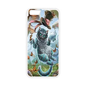 Cheshire Cat in Wonderland IPhone 6 Plus Cases for Girls Protective, Luxury Case Iphone 6 Plus Case [White]
