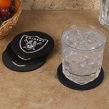 NFL Oakland Raiders 4-Pack Round Neoprene Coaster Set