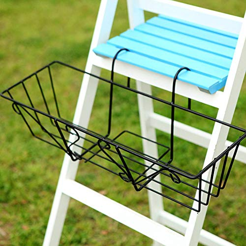 (Railing Flower Pot Holder,Over The Deck Balcony Railing Hanging Shelf Flower Pot Brackets Metal Plant Stand Planter Container Accessories)