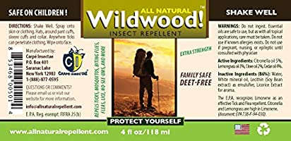 Wildwood todos naturales Mosquito & Repelente de insectos - larga ...