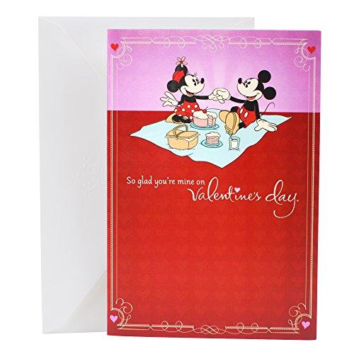 Hallmark Valentine's Day Greeting Card for Romantic Partner (Disney Mickey and Minnie)