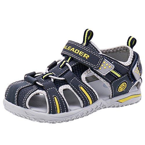 Image of ALEADER Boys Girls Athletic Sport Water Walking Sandals (Toddler/Little Kid/Big Kid) Navy 2 M US Little Kid