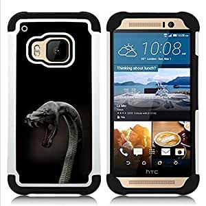 BullDog Case - FOR/HTC ONE M9 / - / Cobra Snake Close Up /- H??brido Heavy Duty caja del tel??fono protector din??mico - silicona suave