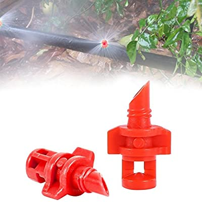 C-Pioneer 20pcs 360 Degree Micro Garden Lawn Water Spray Misting Nozzle Sprinkler Irrigation System