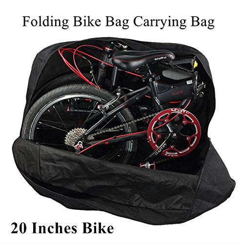 AMOMO Folding Bike Bag 14 inch to 20 inch Bicycle Travel Carrier Case Box Carry Bag Pouch Bike Transport Case by AMOMO (Image #1)