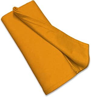 product image for SheetWorld Soft & Stretchy Swaddle Blanket 36 x 36, Orange Sherbert, Made In USA