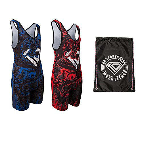 [KO Sports Gear Wrestling Bundle – Dragon (Adult M: 110 - 140 lbs)] (Made Up Superhero Costumes Ideas)