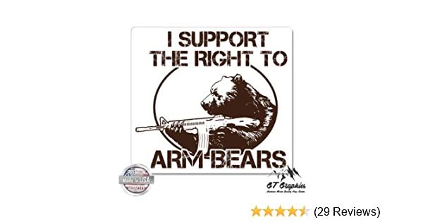 Vinyl Sticker Waterproof Decal Right To Arm Bears Funny