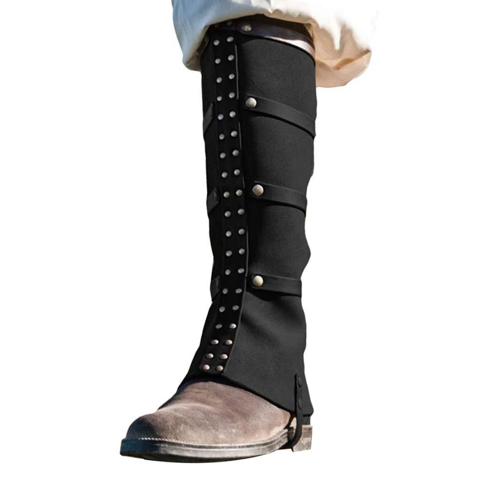 Schuhe sind nicht enthalten Guiran Herren Stiefelstulpen aus Kunstleder Stiefel Gamaschen f/ür Karneval Fasching Halloween und Motto-Partys