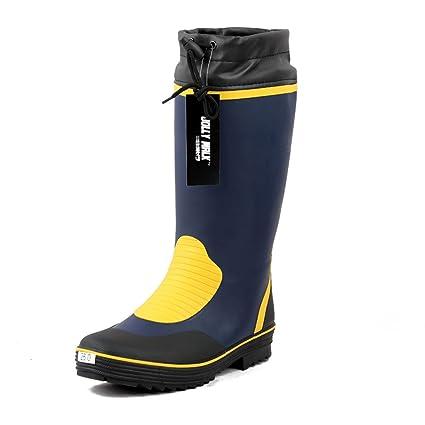 Mingteng Botas de Lluvia Zapatos de Agua Cubrecalzas Zapatos de Pesca Zapatos de Seguridad Zapatos de