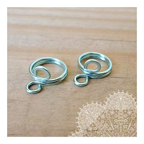 Nipple Ring 2pc Blue sea Non Pierced Body Jewelry Fake Nipple Piercing