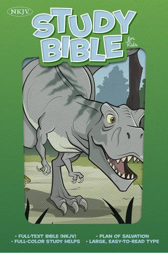 NKJV Study Bible for Kids, Dinosaur LeatherTouch