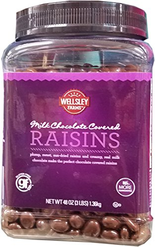 Wellsley Farms Real Milk Chocolate Covered Raisins Sun-Dried, 48 OZ
