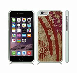 Case Cover For LG G3 with American Flag Painted Texture Look With Hyrules Royal Crest Design Snap-on Cover, Hard Carrying Case (White)
