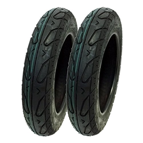 SET OF TWO: Tire Size 3.00 - 10 Tubeless Front/Rear Motorcycle Scooter Moped (Tires Crf50)