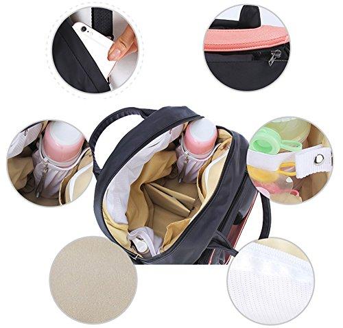 Paquete de múltiples funciones de la mam3a de la capacidad grande para ser paquete paquete producido paquete del cochecito de bebé del paquete ( Color : Beige ) Rojo