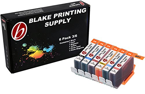 6 Pack Blake Printing Supply BCI6 Ink Cartridges for Canon BJC-8200 PIXMA iP6000D S800 S820 S820D S830D S900 S9000 i900D i9100 i950 i960