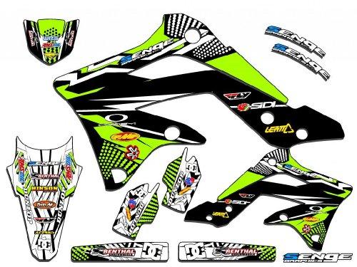 Senge Graphics 1994-1997 KX 80 Mayhem Green Graphics Kit (Radiator For Kx 80 Dirt Bike compare prices)
