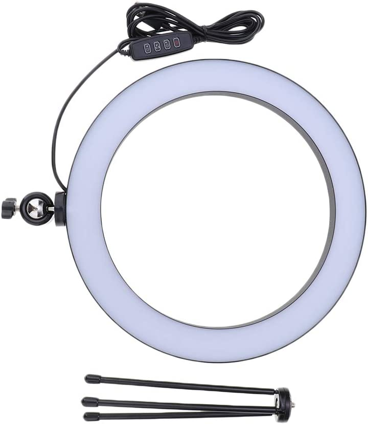 Mini LED Camera Light with Desktop Holder LED Lamp with 3 Light Modes Almencla 10inch Ring Light with Tripod Stand for YouTube Video and Makeup