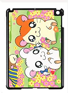 Case Cover Design Hamtaro Cartoon HM04 for Ipad Air Border Rubber Hard Plastic Case Black@pattayamart