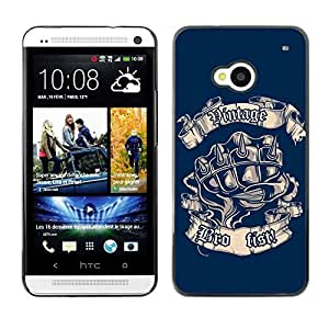 YOYO Slim PC / Aluminium Case Cover Armor Shell Portection //Cool Vintage Bro Fist //HTC One M7